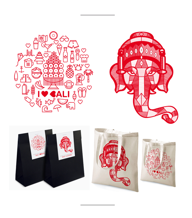 Bali Graphic bags