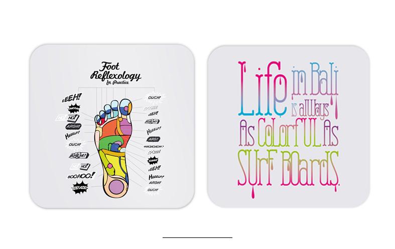 bali icons coasters